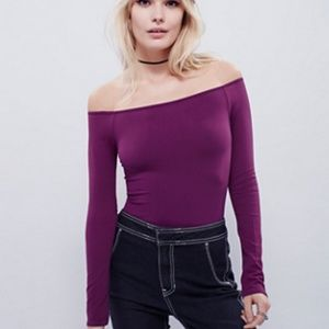 Free People Off-The-Shoulder Solid Top